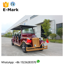 China 5KW AC motor 8 seats electric tourist vehicle fully battery powered electric car for sale