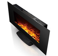 CE approved decorative wall mount electric fireplace with remote control