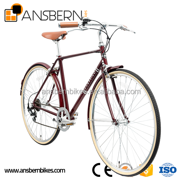 Hot Sale 700C 7 Speed City Bike Very cheap lady bike steel frame ladies city bike 26&quot lady city bicycle factory