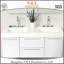 European style low price Double Sink cabinet Bathroom Vanity 2RC-TD-1005