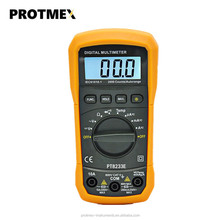 Best sell protmex pt8233e low price handheld auto ranging ac dc digital multimeter diode continuity temperature tester