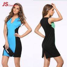 JS 20 Ladies Office Daily Wear Dresses Cheap Instock Woman Sleeveless Mini Sexy Dress 601
