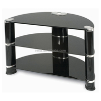 modern dining room furniture aluminium pipe tv stand tempered glass tv stand/plasma tv stand ZA026