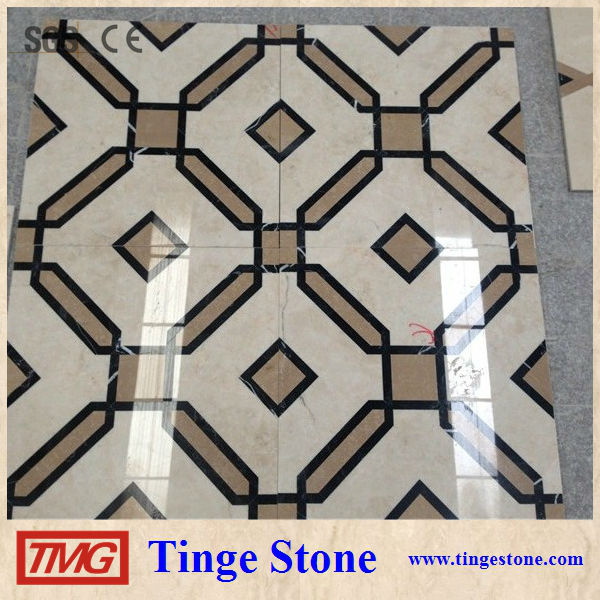 Hotel flooring marble medallion colorful border designs
