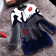 New style women real lamb fur coat with double face sheepskin fur winter outwear