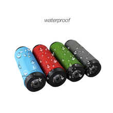 Portable outdoor ipx7 waterproof bluetooth speaker power bank with flashlight