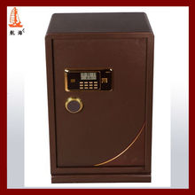 Unique Leather Upholstery 2013 first sale luxury high quality and security coefficient steel safe box,safe locker cabinet