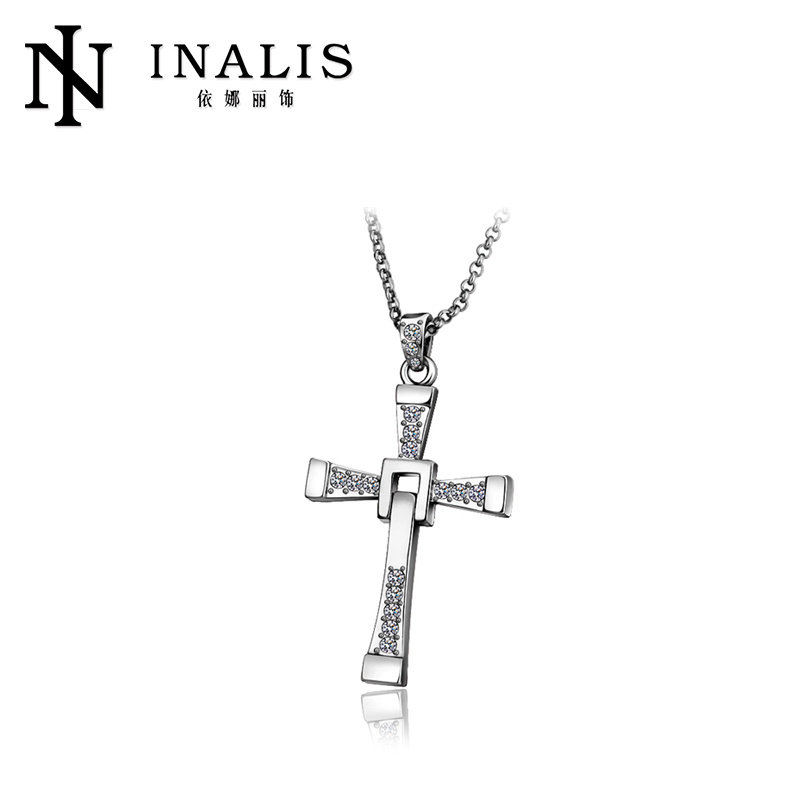 2014 professional jewelry 18k gold plated cross necklaces graduation gifts for woman N705