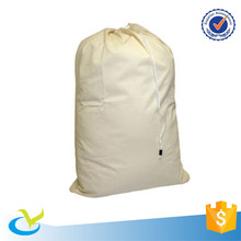 2017 large promotional cloth packing cotton canvas drawstring laundry bag