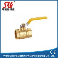 Unique design 2pc male female brass ball valve of brass with low price