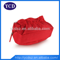 2015 New model cute red kids cosmetic bag with pouch
