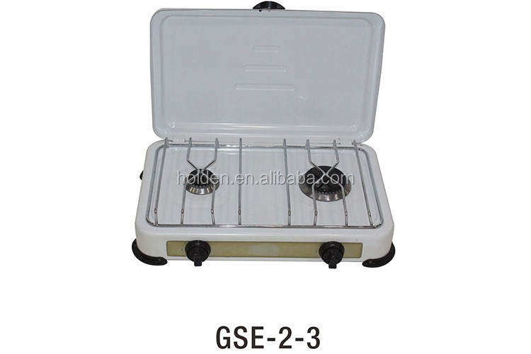 GSE-2-3 Wholesale Copper Cap travel hotel 2 burner gas stove