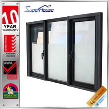 Standard size low e glass aluminium french casement window with AS2047 Australian standard