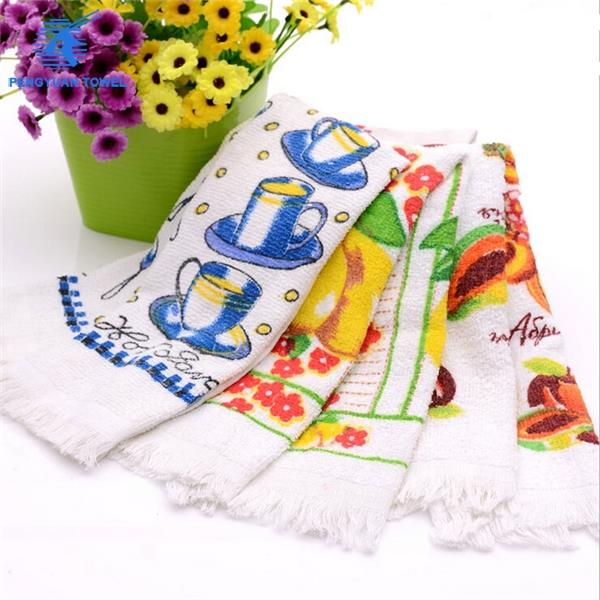 china supply manufacturer wholesale cheap custom printed cotton kitchen tea towel