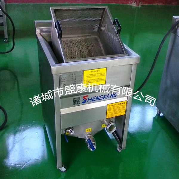 New Coal Heating automatic chicken nuggets deep frying machine/ potato chips fryer/ making machine