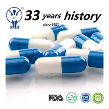 Pharmaceutical product vigorous blue and white capsules