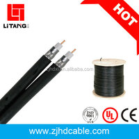 2017 hot sales OEM Top quanlity and factory price 75ohm CCS/CCA/CU rg6 coaxial cable 10d ftxe for CCTV CATV