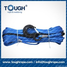 "Synthetic Winch Rope - 1/4"" x 48' Winch Cable Bluefits manual or boom winches"
