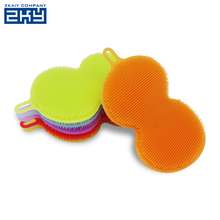 Colorful Silicone Rubber Washing Cleaning Dish Brush Fruit Scrubber for Cleaning