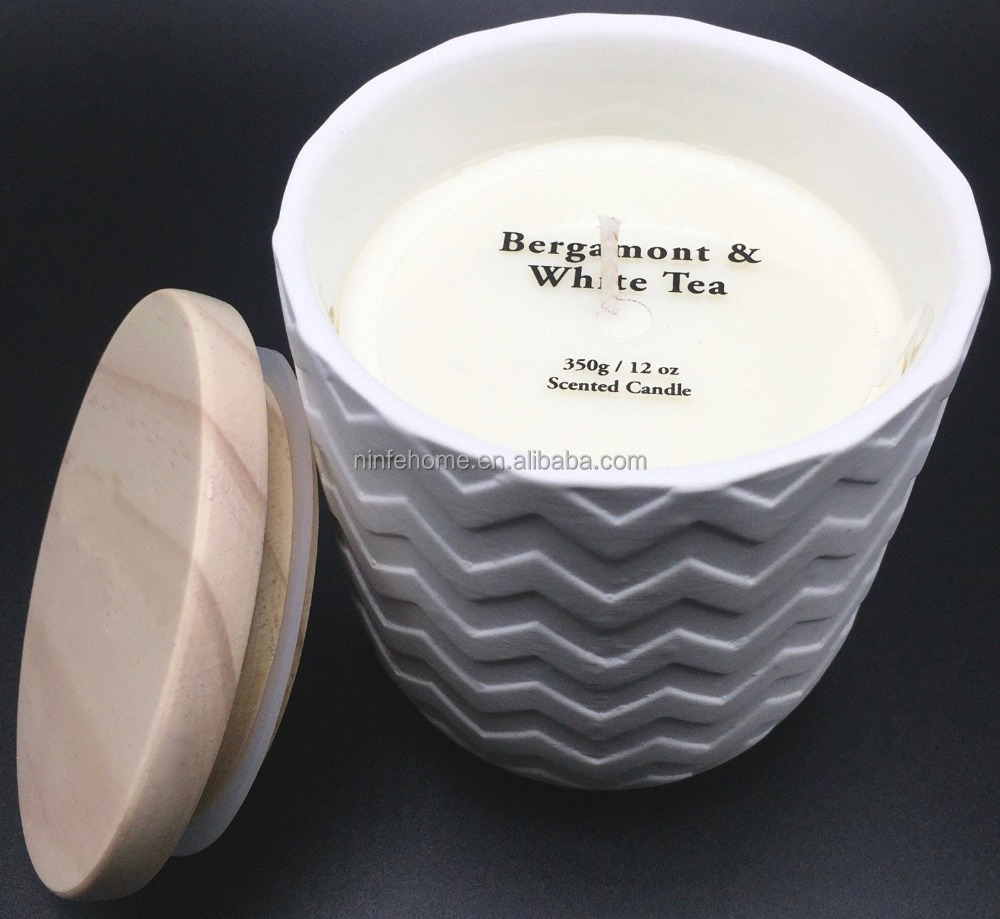 12 oz/350g natural aroma therapy ceramic candle gift collection