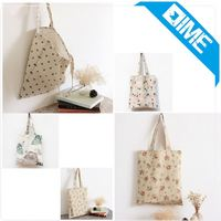 Long Strap Tote Bags With Reusable 100% Cotton Handbags