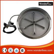SUS304 outdoor firepit table fire ring/match or electric ignition/thermocouple/safety valve/Propane/natrual gas