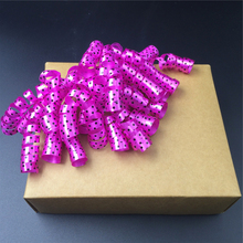 Plastic ribbon material christmas gift packaging pre-tied curly bows