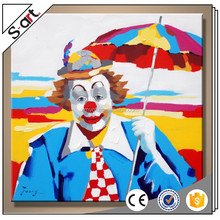 Pop art clown canvas oil painting for living room home hotel cafe modern Wall art Decoration