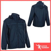 100 polyester high collar jacket coat windproof fabric sports jacket