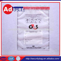 LDPE Tamper Evident Bag/security strap seal/security tape double side printing for plastic bag