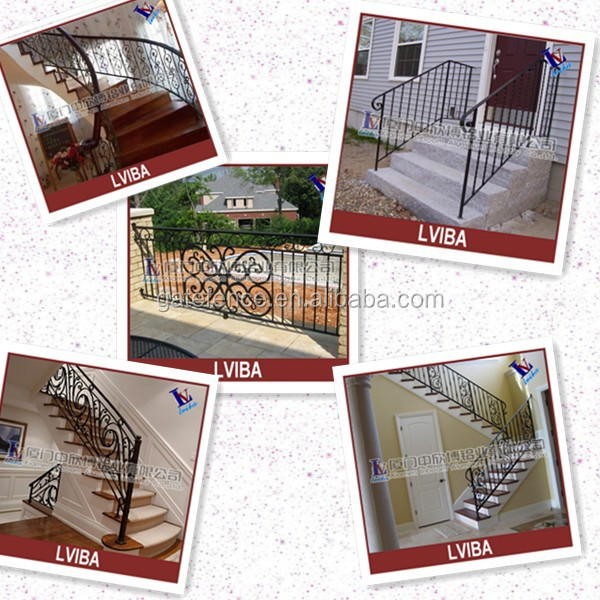 Decotative wrought iron handrail & exterior handrail lowes
