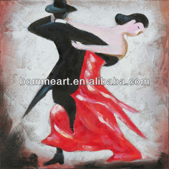 New Hot sale 100% hand-painted portrait painting famous dance paintings