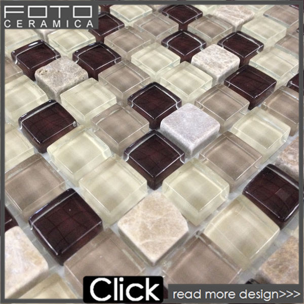 Glass stone crystal glass mosaico de pedra