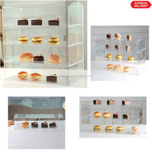 Custom Delicated Acrylic Bakery Pastry Display Case Stand Cabinet Cakes Donuts Cupcakes Pastries