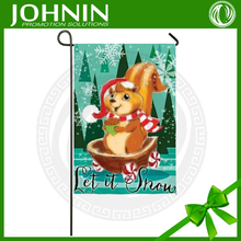 Let It Snow Christmas Acorn Squirrel Large Outdoor Flag