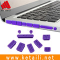 Wholesale price high quality Colorful Silicone Laptop Accessories Anti-dust plug-cover set for laptops