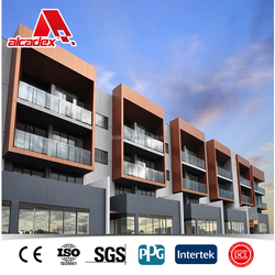 wood effect aluminum plastic composite panel wall cladding