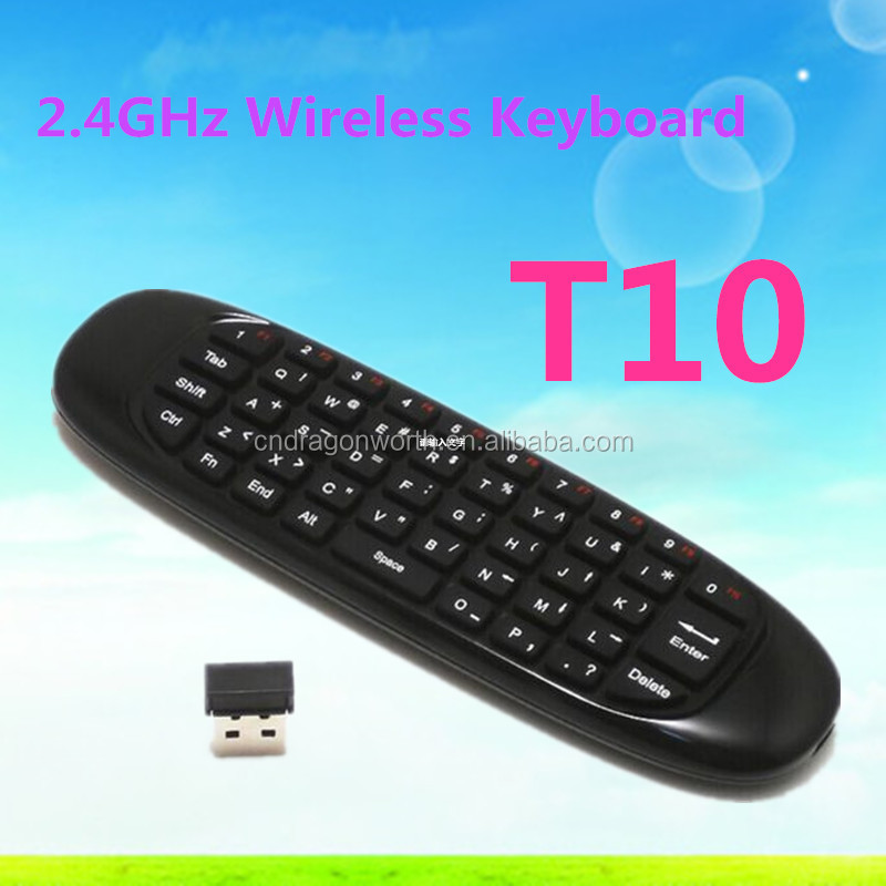 key mouse 2.4G Wireless USB Receiver Wireless Keyboard Air Mouse T10 for Smart TV