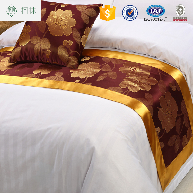 comfortable bed runner ,durable bed linen,hotel use bed throw and cushion cover