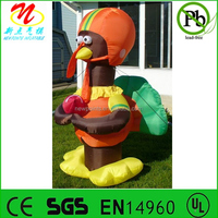 Gemmy inflatable decorative turkey lights up Thanksgiving