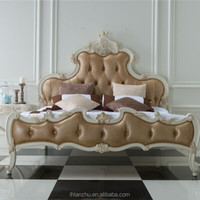 classical style wooden hand-carved bed LZ1211-W3