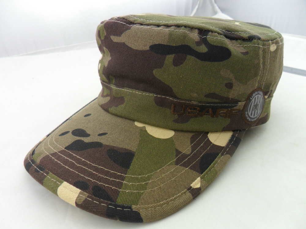 wholesale customized cotton leather label military hat