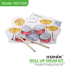 same sound withe real drum kit, hand roll up USB Midi electronic drum