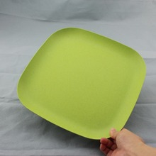 China supplier Bamboo Fiber Tableware Disposable Bamboo Plates/ Dishes With High Quality