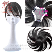 9*8.5*8.5cm All Hand tied Top Skin system hair toupee Women Human Clip in toupees Man Hair Replacement systems women's hairpiece