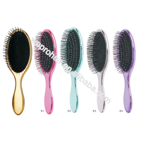 2016 New arrival salon plastic personalized bling paddle hair brush