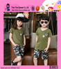 Yiwu Cheap Children Clothes Wholesale Kids Fashion Casual Cotton Camouflage Clothes Summer Wear