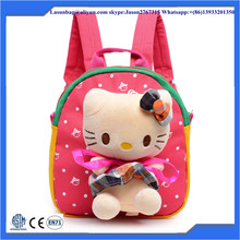Cute Child Baby Plush Animal Hippo Backpack 3D Cartoon Kids Zoo Animal Shoulder bags