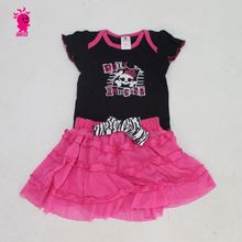 2015 newest fashion baby girl romper +tutu skirt knitting patterns wholesale baby clothes
