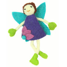 Hand Felted Tooth Fairy - Brown Hair with Purple Dress - Global Groove